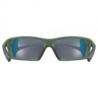 Uvex sportstyle 225 olive gre.m./mir.red
